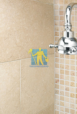 limestone tile shower thala cream Woodville South cleaning