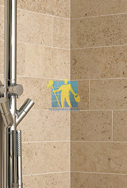 limestone tiles shower moleanos beige Woodville South cleaning