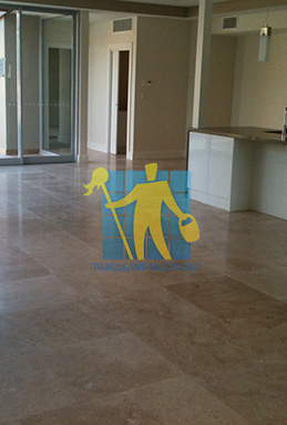 extra large porcelain floor tiles after cleaning empty room with kitchen Adelaide