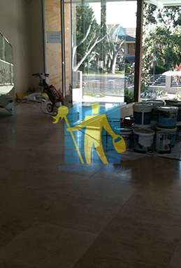 extra large porcelain floor tiles after cleaning empty room with polisher Adelaide