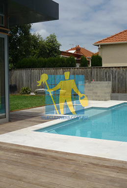 outdoor sandstone tiles pool coping snow white Woodville