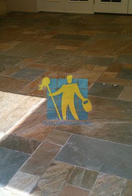 clean slate tiles unsealed after stripping and cleaning Woodville South cleaning